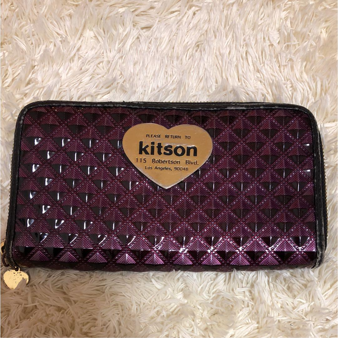 4e4c4f7b583d キットソン 長財布 kitson 財布 サイフ 使用感少々 クリスマスプレゼント