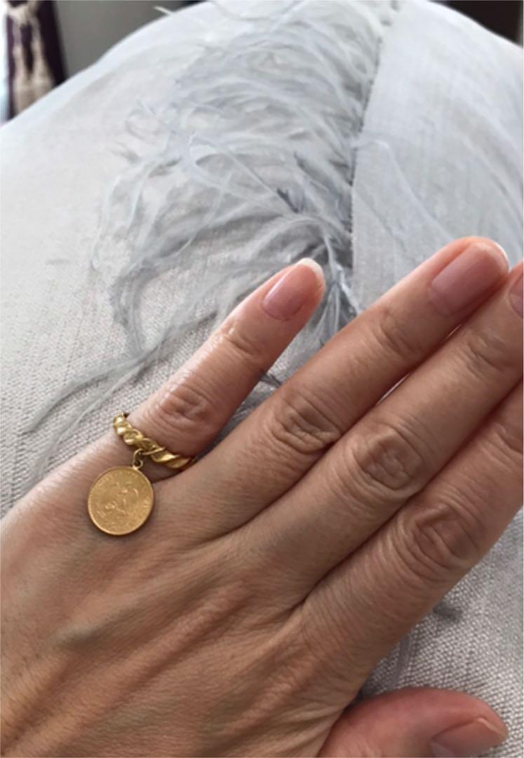 メキシコ金貨のゴールドリング