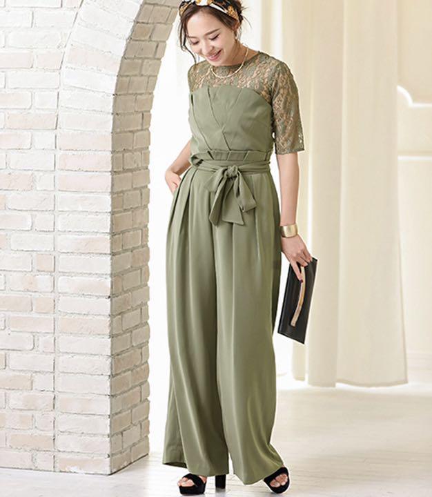 ef415588af7bd メルカリ - レースブラウス ベアトップジャンプスーツパンツドレス ...