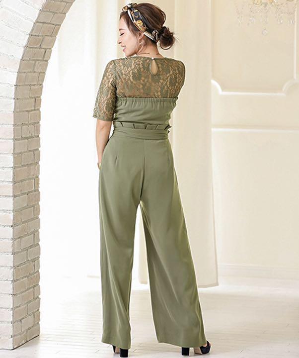 ea23fea7a1c5d メルカリ - レースブラウス ベアトップジャンプスーツパンツドレス ...