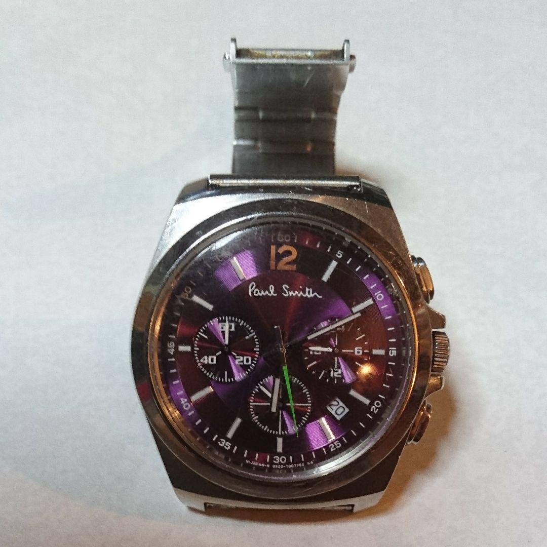 reputable site e2f47 3ccde ポールスミス 腕時計 クロノグラフ 紫 時計(¥5,300) - メルカリ スマホでかんたん フリマアプリ