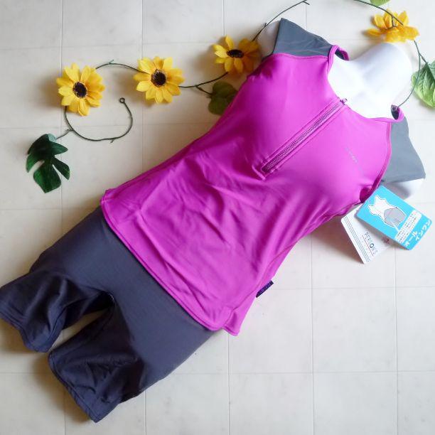e10b4fddaee メルカリ - 『パーソンズ』フィットネス水着② ピンク紫/9Mサイズ 【水着 ...