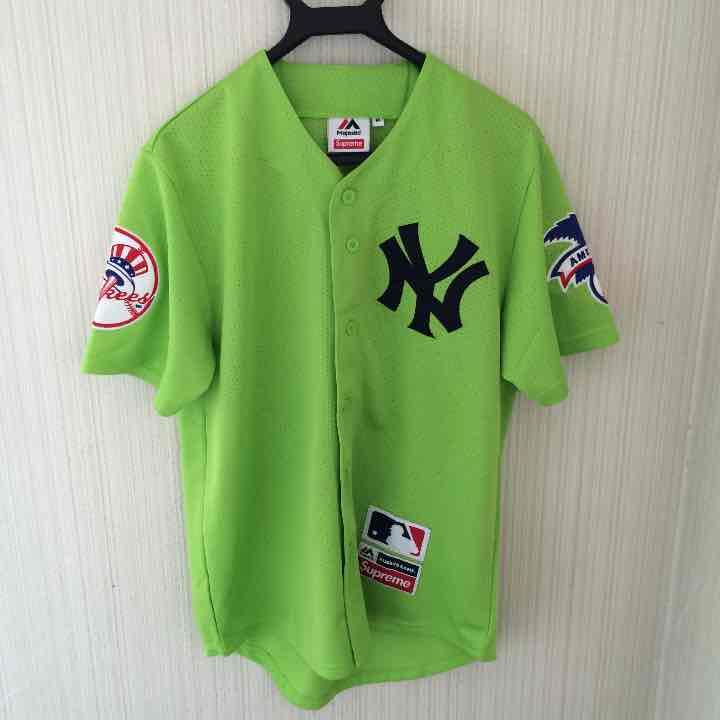 the best attitude b47c5 6c416 Supreme×NewYork Yankees Baseball Jersey(¥49,800) - メルカリ スマホでかんたん フリマアプリ