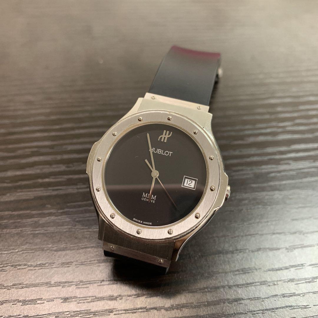 finest selection 55626 5e75f 売り切り!24時まで【HUBLOT】 MDM GENEVE メンズ 腕時計(¥110,000) - メルカリ スマホでかんたん フリマアプリ