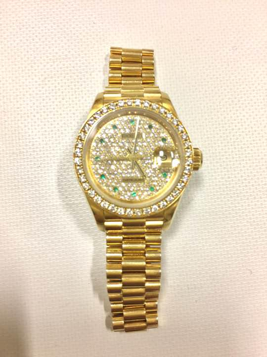 best website e0825 305ac 本物保証ROLEXロレックスデイトジャスト文字盤純正ダイヤレディースYG腕時計(¥3,150,000) - メルカリ スマホでかんたん フリマアプリ