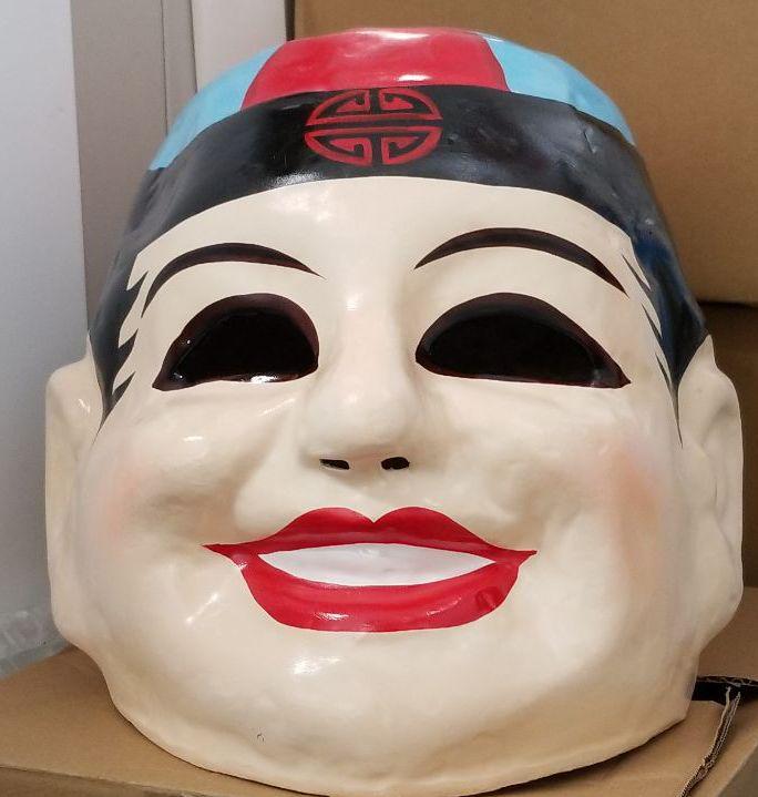 中国人風 チャイナ帽子をかぶったお面1000 メルカリ スマホでかんたん フリマアプリ