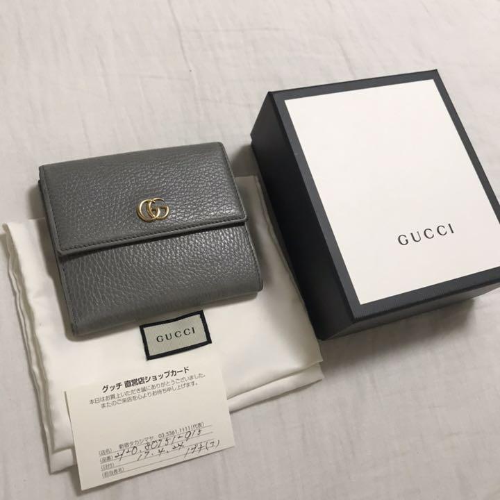 low priced b99c5 128fe メルカリ - GUCCI グッチ 正規品 二つ折り財布 ggマーモント ...