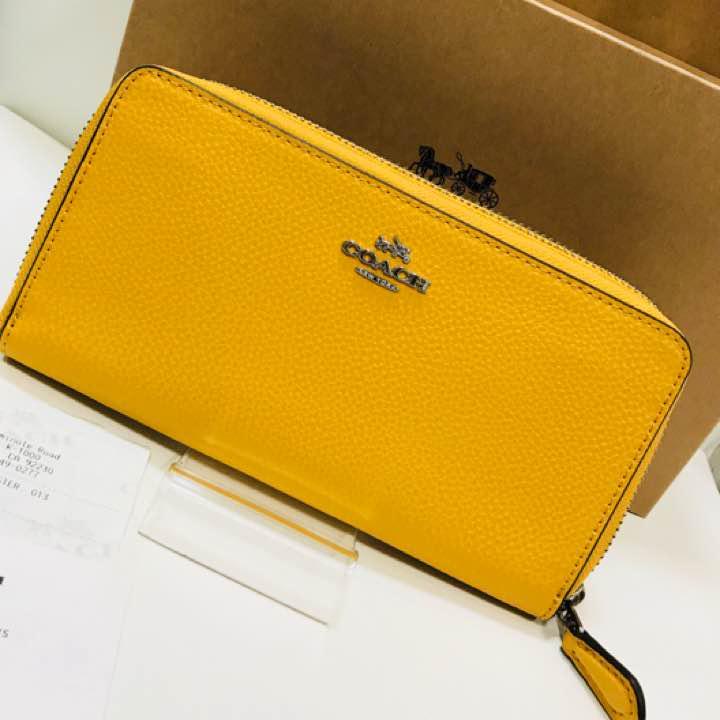 quality design 69663 0d0b5 ⭐️新品未使用 COACH長財布 黄色 財布 レザー ブランド 正規品(¥14,999) - メルカリ スマホでかんたん フリマアプリ