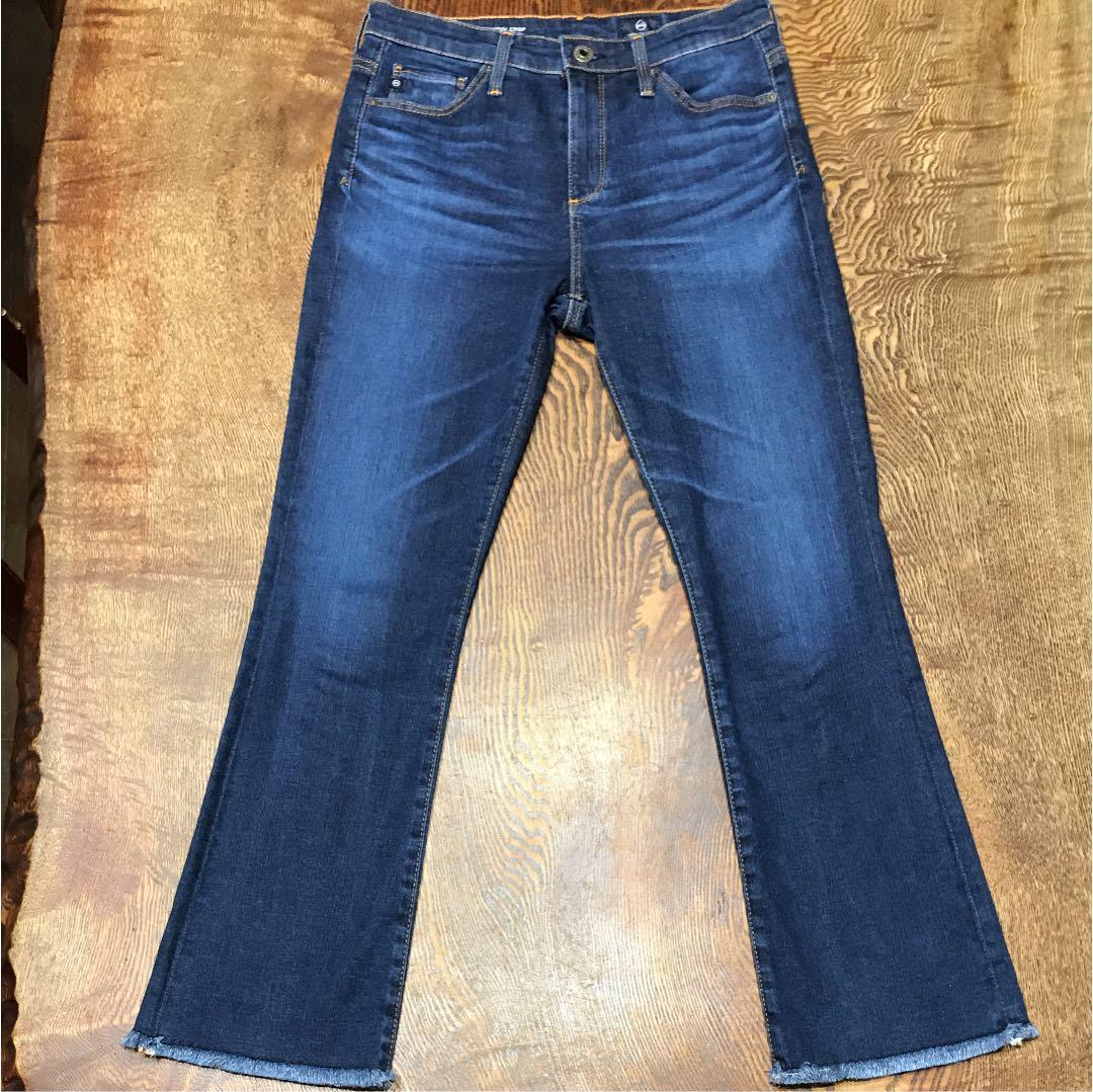 NWT Adriano Goldschmied The Jodi Crop High Rise Slim Flare Crop Jeans in White