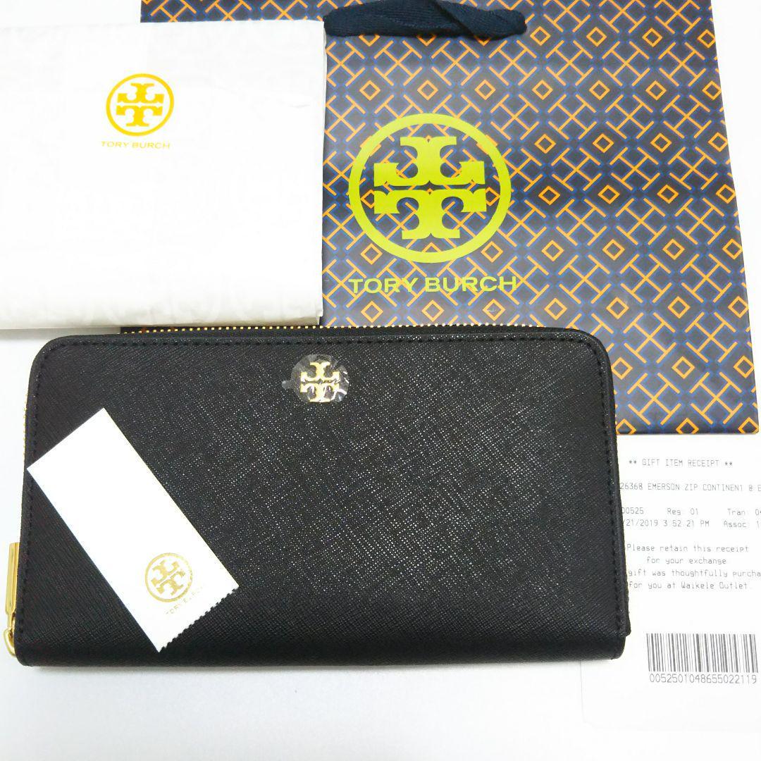 d88b1365e37a メルカリ - 【新品、未使用】トリーバーチ 長財布 ブラック ...