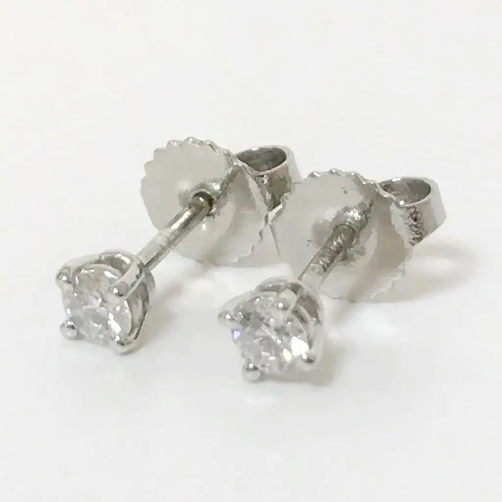 buy popular 4920a e7e5b 正規品 ティファニー ソリティア ピアス PT950 ダイヤモンド(¥70,000) - メルカリ スマホでかんたん フリマアプリ