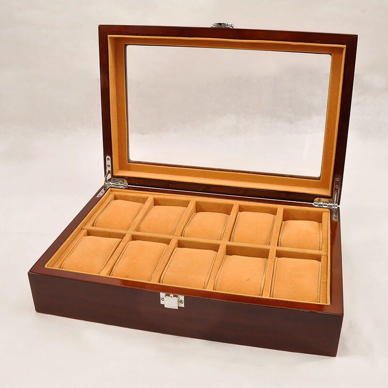 official photos 18aff 826ba 10本用 腕時計ケース 木製 ちょっと豪華 ウォッチ コレクション ケース(¥3,000) - メルカリ スマホでかんたん フリマアプリ