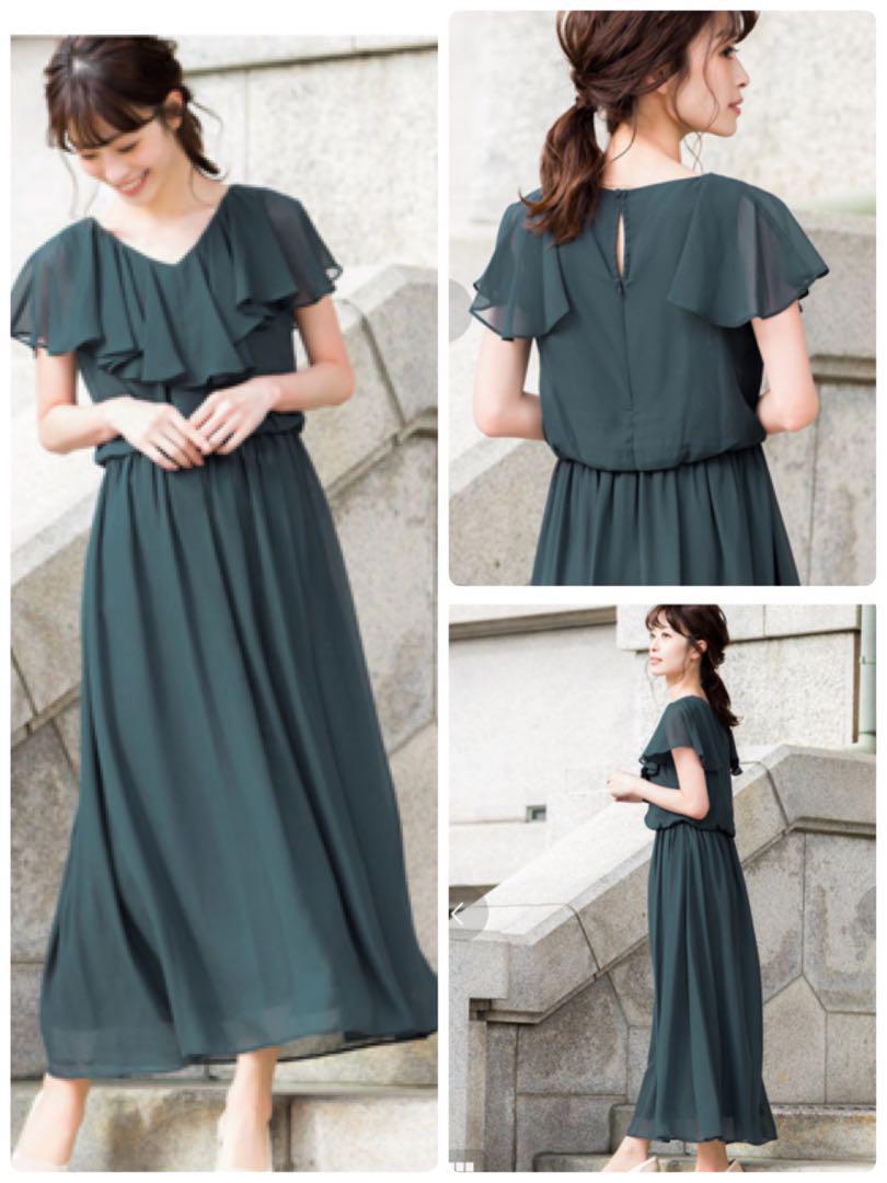 b364bf588aae8 メルカリ - Fashion Letter フリル ドレスワンピース ロングドレス ...
