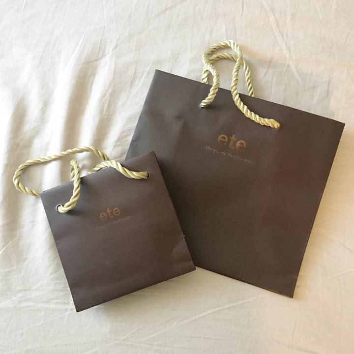 アクセサリー ete ショッパー 紙袋 セット(¥300) , メルカリ スマホでかんたん フリマアプリ