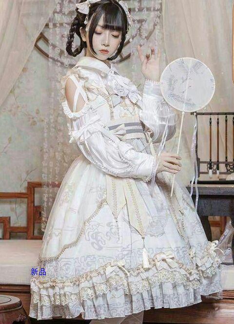 龍のうた 和風 ロリータ ジャンパースカート ロリィタ パーティードレスTC
