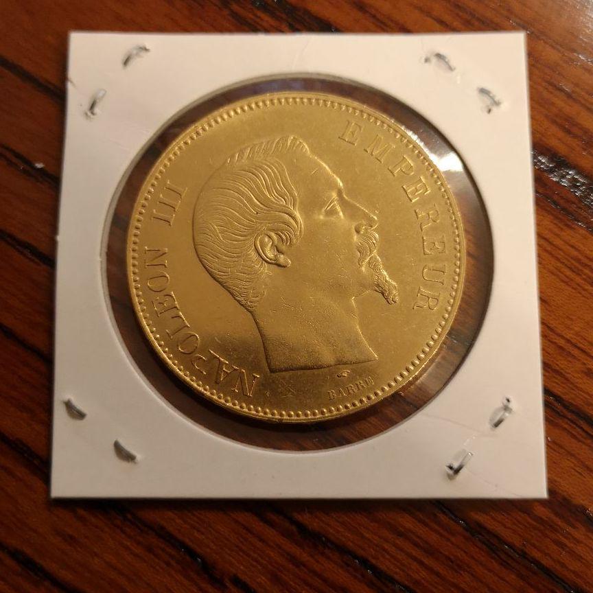 メルカリ - フランスナポレオン3世・100フラン・金貨・1857年 【旧 ...