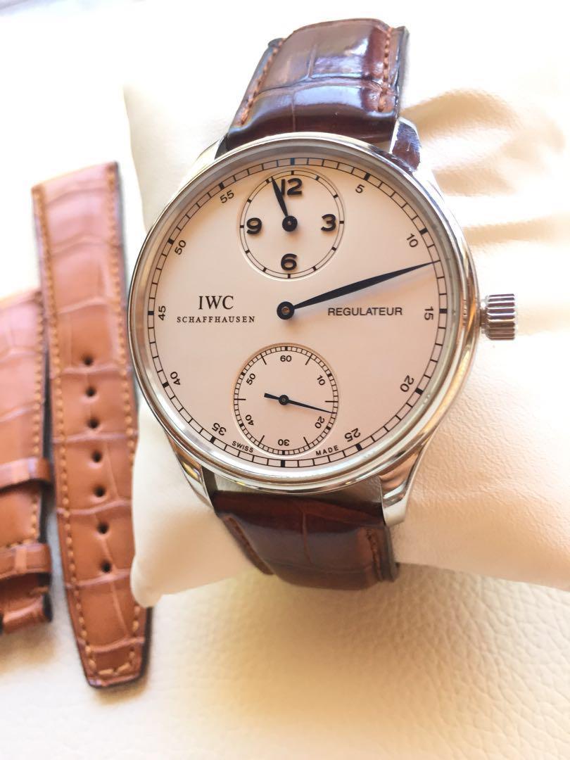 best service 17115 f4dcc 腕時計 IWC ポルトギーゼ レギュレーター手巻き IW544401(¥580,000) - メルカリ スマホでかんたん フリマアプリ