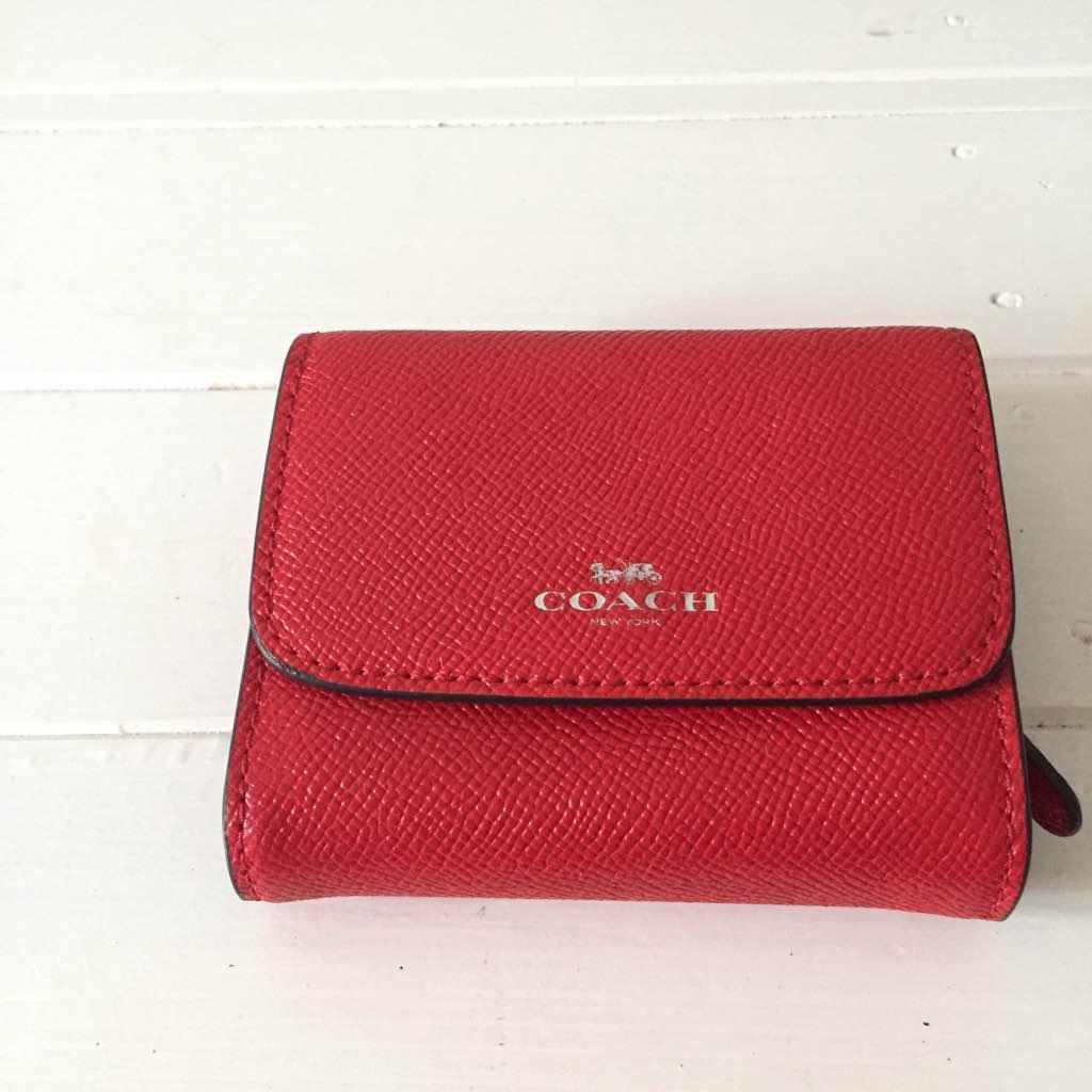 quality design cd56f 650e6 COACH ミニ財布 赤