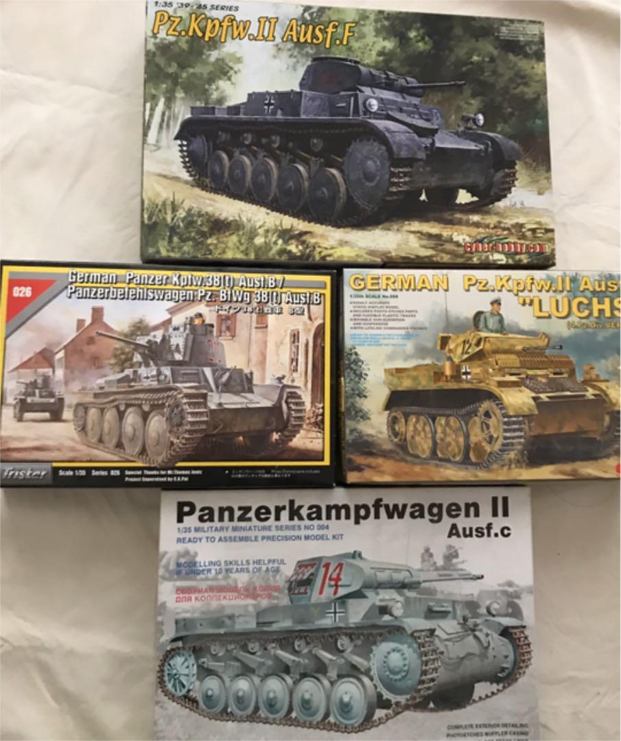 La seconde guerre mondiale 1 35 German Light Tank Set