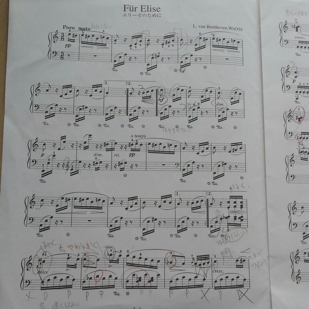 に 楽譜 の ため エリーゼ