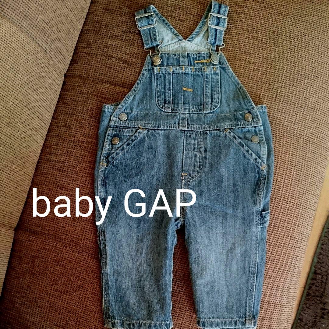 f4b38eba9a84b メルカリ - baby GAP ベビーギャップ デニム オーバーオール 男女兼用 ...