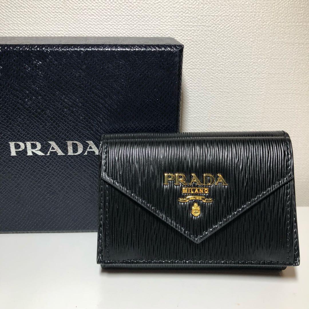 factory authentic 3381a 9aea7 PRADA プラダ 三つ折り財布(¥36,400) - メルカリ スマホでかんたん フリマアプリ