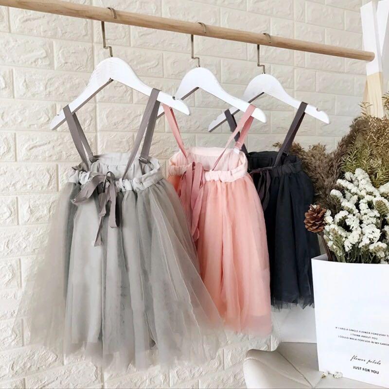 5be81b5de2165 メルカリ - ストラップチュールワンピース 海外子供服 女の子ドレス 韓国 ...