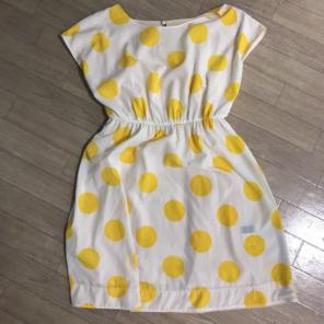 bac72c51f8dd1 キャサリン ハムネット 黄色い水玉ワンピース リバーシブル