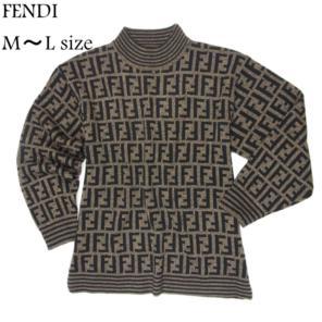 fb0d614a67103 フェンディ 美品 ヴィンテージ M~L ズッカ 長袖 サマー ニット セーター