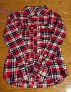 41a5b3c861077 レディースチェックシャツ(レッド)☆MARAXIA(マラキア