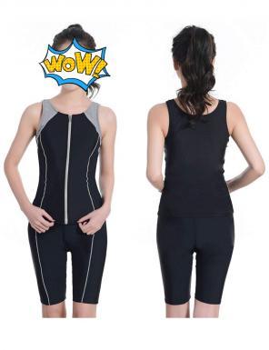 4486ac31f0f 水着 フィットネス 競泳水着 スイムウェア 水泳服 女性 練習用 2点 ...