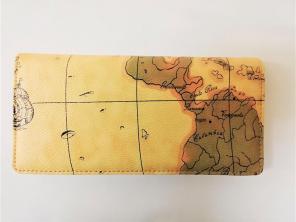 828faf33672c ロングウォレット 長財布 ワールドマップ 世界地図 9.5x19.5x2cm ㊳