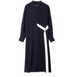 a1b247d296e11 ルシェルブルーLE CIEL BLUE即完売ハーフプリーツドレス2019SS