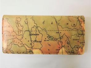 d737233a9a7c ロングウォレット 長財布 ワールドマップ 世界地図 9.5x19.5x2cm ㊵