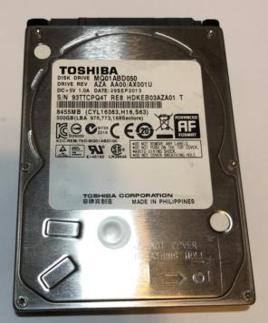 """Toshiba MK5055GSX 500GB SATA//300 5400RPM 8MB 2.5/"""" Hard Drive"""