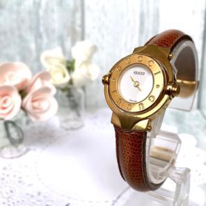 60e5bb9aa568 【稼働品】GUCCI グッチ 腕時計 6600L 回転ベゼル バングル ウォッチ