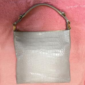 95bf5d03493bb leather jewels クロコ型押し牛革bag
