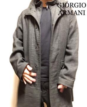 new arrival 31323 c77cf ジョルジオ アルマーニ チェスターコートの中古/新品通販 ...