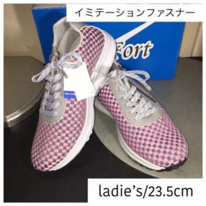 4efdb6348c9a6 新品☆23.5cm☆レディース☆超軽量☆幅広3E☆ファスナー スニーカー ピンク