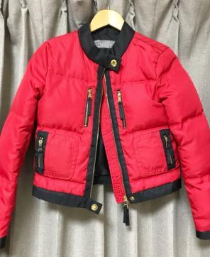 8f40d0fe879ee 完売 ZARA 赤 レッド ダウンジャケット アウター スポーティー 海外