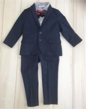 c94ecf75dbce9 H M男の子 スーツ4点セット110蝶ネクタイジャケットシャツパンツ