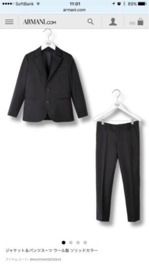 5e42996ee9e43 アルマーニジュニア スーツ サイズ6 118cm 120cm 結婚式お祝七五三に