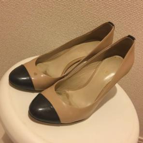 b249e60c1cbd メルカリ - COACHのベージュピンクのぺたんこ靴 【ハイヒール/パンプス ...