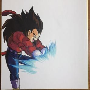 メルカリ ドラゴンボールイラスト スーパーサイヤ人4 悟空 ベジータ