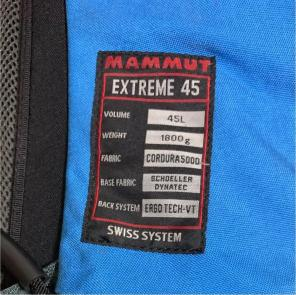 sports shoes d20d5 991e0 MAMMUT extreme 45の中古/新品通販【メルカリ】No.1フリマアプリ