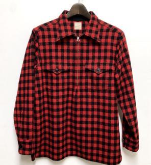 f36b24c56532f 新品 Mサイズ BELAFONTE ハーフZIP チェックシャツ 正規品